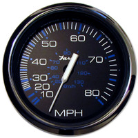 "Faria Chesapeake Black SS 4"" Speedometer - 80MPH (Mechanical)"
