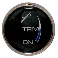 "Faria Chesapeake Black 2"" Trim Gauge (Mercury\/Mariner\/Mercruiser\/Volvo DP\/Yamaha-2001 and newer)"