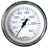 "Faria Chesapeake White SS 4"" Speedometer - 60MPH (Mechanical)"
