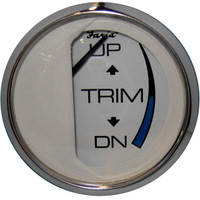 "Faria Chesapeake White SS 2"" Trim Gauge (Mercury\/Mariner\/Mercruiser\/Volvo DP\/Yamaha-2001 and newer)"