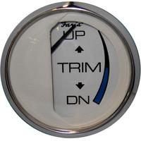 """Faria Chesapeake White SS 2"""" Trim Gauge (Mercury\/Mariner\/Mercruiser\/Volvo DP\/Yamaha-2001 and newer)"""
