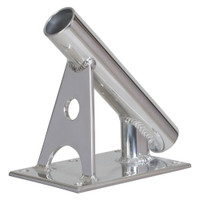 "Lee's MX Pro Series Fixed Angle Center Rigger Holder - 45 Degree - 1.5"" ID - Bright Silver"