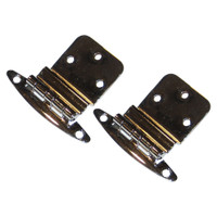 """Perko Chrome Plated Brass 3\/8"""" Inset Hinges"""