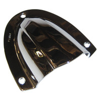 "Perko Clam Shell Ventilator - Chrome Plated Brass - 4"" x 3-3\/4"""