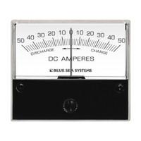 "Blue Sea 8252 DC Zero Center Analog Ammeter - 2-3\/4"" Face, 50-0-50 Amperes DC"