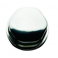 "Schmitt Faux Center Nut - Stainless Steel - 1\/2""&3\/4"" Base Included - For Cast Steering Wheels"