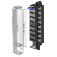 Blue Sea 5046 ST Blade Compact Fuse Blocks - 8 Circuits w\/Cover