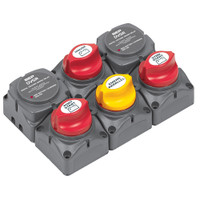 BEP Battery Distribution Cluster f\/Twin Outboard Engines w\/Three Battery Banks