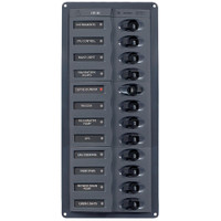 BEP DC Panel - 12-Way - No Meter - Vertical