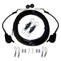 Rupp Single Rigging Kit W\/Lok-Ups & Nok-Outs - 160' Black Mono