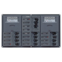 BEP AC Circuit Breaker Panel w\/Analog Meters, 2SP 1DP AC120V