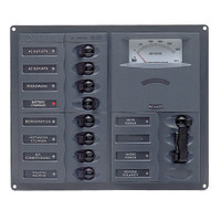 BEP AC Circuit Breaker Panel w\/Analog Meters, 8SP 2DP AC120V Stainless Steel Vertical