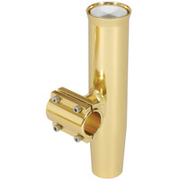 "Lee's Clamp-On Rod Holder - Gold Aluminum - Horizontal Mount - Fits 1.660"" O.D. Pipe"