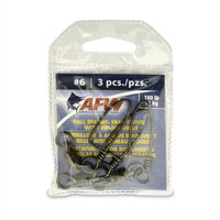 AFW Ball Bearing Snap Swivel 180# 3 Pack