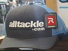 Alltackle Fishing Hat - Big Font - Black & Blue