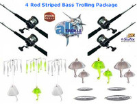 Alltackle Striped Bass 4 Rod Trolling Package