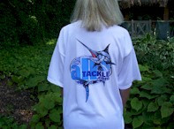 Alltackle T-Shirt White Adult Extra Large w/ Pocket