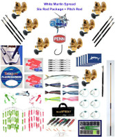 Alltackle White Marlin Fishing Gear Package w/ Penn Torque 25LD2 Reels