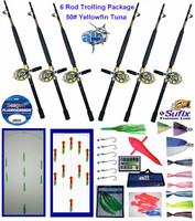 Alltackle Yellowfin Tuna 50# Trolling Package w/ Rods/Reels
