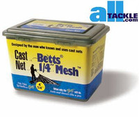 Betts #25 Cast Net 1/4 inch 4 ft