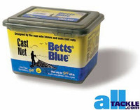 Betts Blue Cast Net 1/2 inch 4 ft