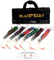 Black Bart Sailfish/White Marlin/ Blue Marlin Rigged Lure Pack