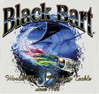 Black Bart T-Shirt Marlin Lure Medium