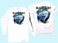 Black Bart T-Shirt LS Wahoo Small