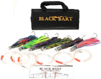 Black Bart Tuna/Dolphin Rigged Lure Pack Single Hooks/Fluoro