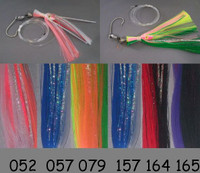 Blue Water Candy 8/0 Ballyhoo Rig - blue/white