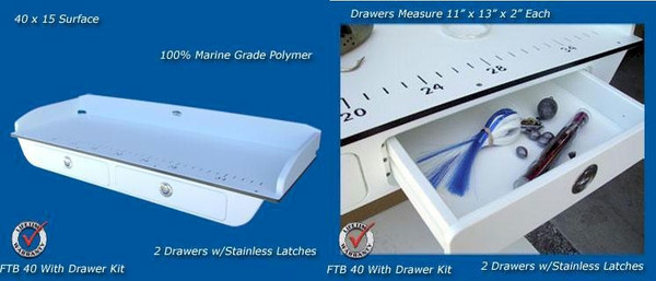 Deep Blue Marine Boat Filet Board w/ Drawers - 2-4 weeks lead time