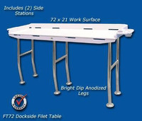 Deep Blue Marine Dockside Fillet Table 72 x 21
