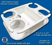Deep Blue Marine Drink Holder with Box BH-4