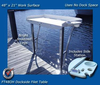 Deep Blue Marine Overhang Fillet Table 48 x 21