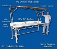 Deep Blue Marine Ultimate Tournament Dockside Fillet Table 96 x 36