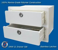 Deep Blue Marine XL Double Drawer White - 2-4 weeks lead time