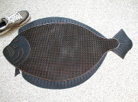 Fish Doormat Large Black Flounder