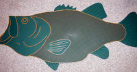 Fish Doormat Largemouth Bass Green
