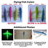 Frenzy Ballistic Flying Fish Lure - Blue Glitter