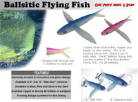 Frenzy Bite Size Ballistic Flying Fish Lure - Blue Glitter