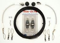 Rupp Marine Black Mono Single Rigging Kit w/ NOK-OUT Releases - Pair