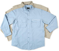Shimano Vented Guide Shirt Khaki Medium