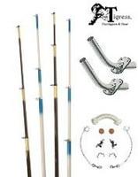 Tigress Fiberglass Outrigger Kit White/Blue
