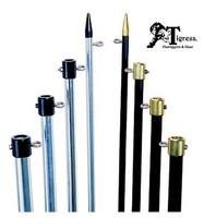 Tigress Premium Aluminum Outrigger Poles 15' 1-1/2 SB