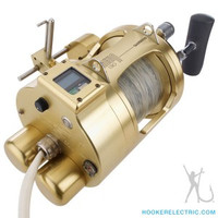 Hooker Electric Dual Dredge Motor w/ Autostop. Includes Shimano® Tiagra® 130A Installed