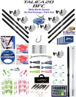 Alltackle White Marlin Fishing Gear  Package w/ Shimano Talica BFC20 Reels