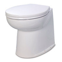 "Jabsco 17"" Deluxe Flush Raw Water Electric Toilet - 24V"