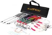 Black Bart Wahoo Rigged Lure Pack Light Single Hooks