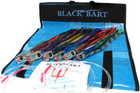 Black Bart Blue Marlin Rigged Lure Pack Single Hooks Fluorocarbon