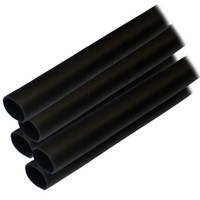 "Ancor Adhesive Lined Heat Shrink Tubing (ALT) - 1\/2"" x 6"" - 5-Pack - Black"
